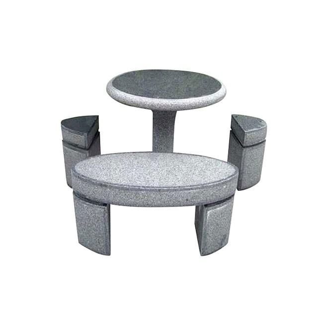 Bord, bænk og stole sæt i granit