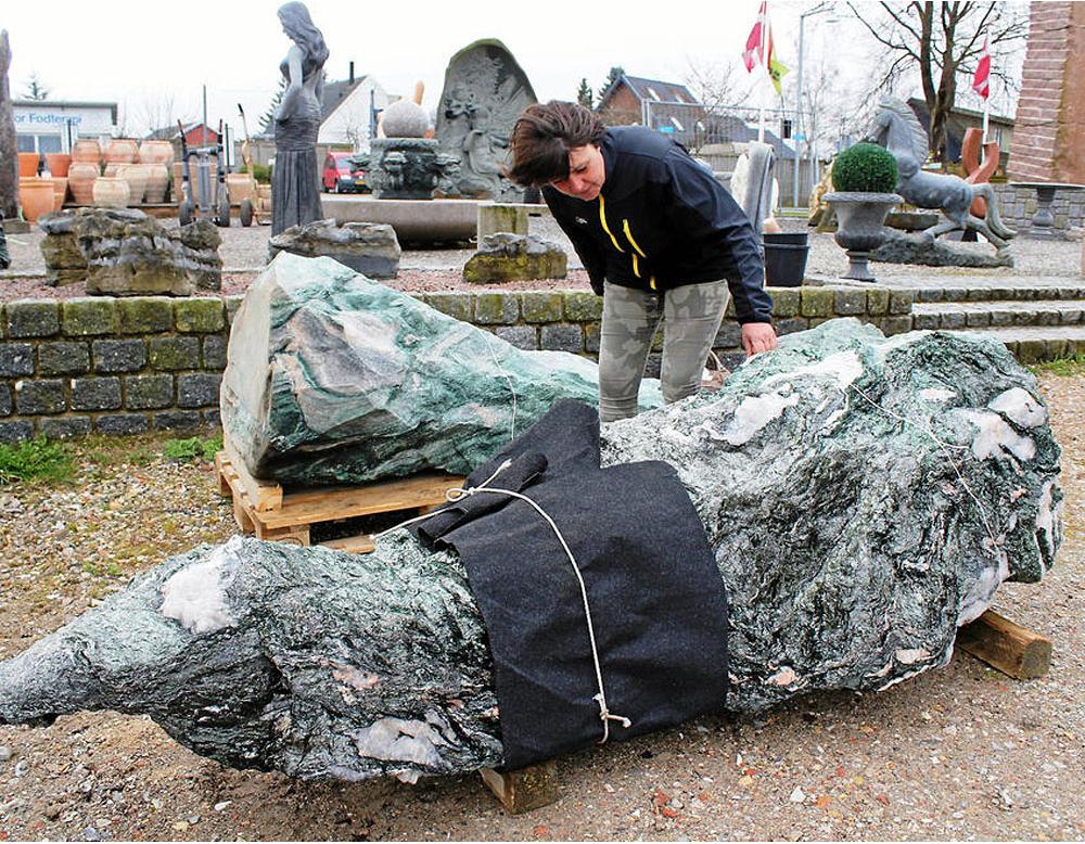Grøn granit fra Norge ankommet